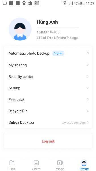Using Dubox Cloud Storage has 1TB of free storage space 10