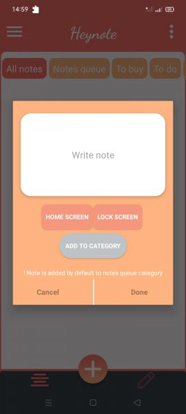 Heynote: Viết ghi chú lên hình nền, màn hình khóa Android