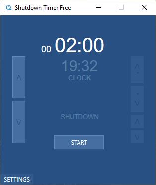 Otopak Shutdown Timer Free: hẹn giờ tắt máy tính Windows 10