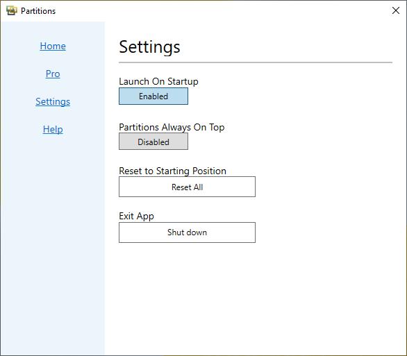Partitions: Nhóm lối tắt, tập tin Windows 10 trên desktop đẹp và trực quan hơn