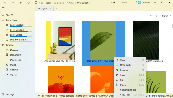 Shrestha Files Free: Quản lý file Windows 10 trong giao diện Fluent 2 cột