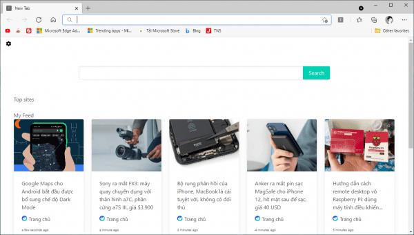 Mẹo hay theo dõi tin tức trang web yêu thích trên Microsoft Edge