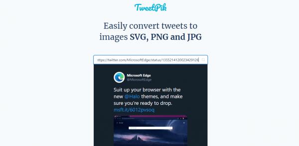 TweetPik: Chuyển đổi tweet thành hình ảnh có màu nền, kích thước tùy chọn 3