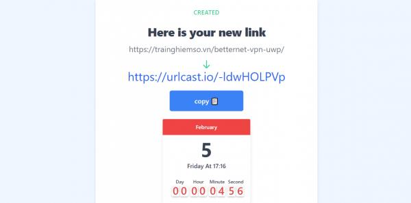 Urlcast.io: Tạo link chờ mở trang web