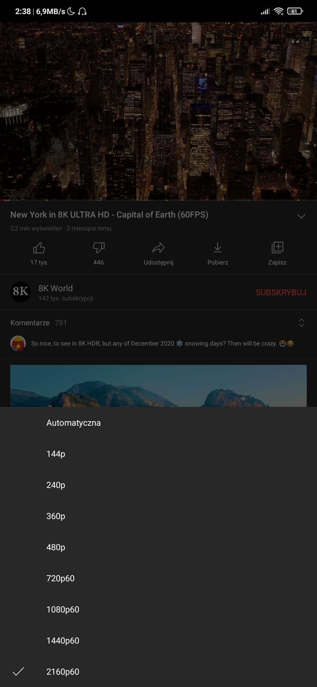 YouTube 4K Android