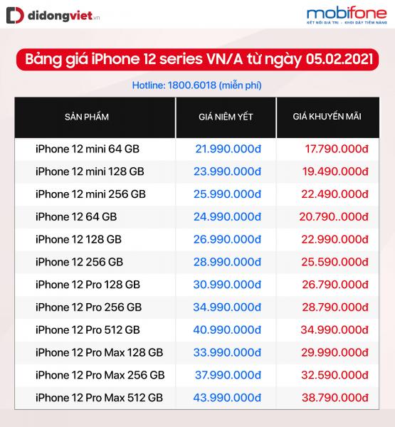 iPhone 12 Pro, 12 Pro Max giảm đến 6,2 triệu dịp cận Tết