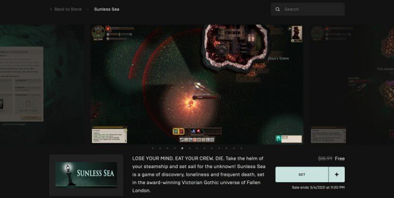 Đang miễn phí game Sunless Sea