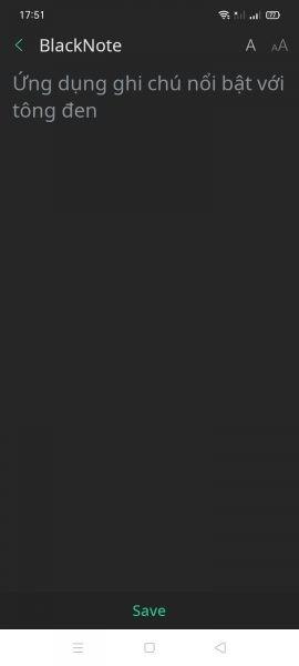 BlackNote: Ghi chú trên Android hỗ trợ nhiều tính năng