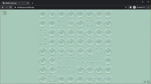 Bubbles: Chơi bóp xốp khí online để giảm căng thẳng