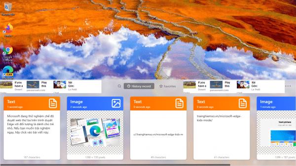 Clipboard tool: Nơi cất giữ vĩnh viễn hình ảnh, văn bản bạn sao chép trên Windows 10
