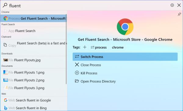 Tìm kiếm trên Windows 10 với Fluent Search thật tuyệt vời
