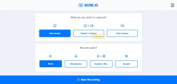 Scre.io: Quay video màn hình không giới hạn