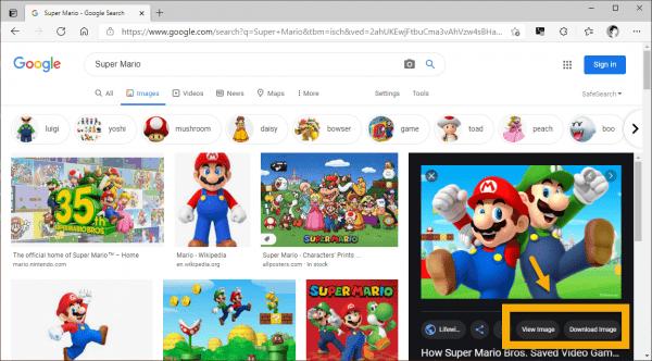 Cách xem, tải trực tiếp hình ảnh tìm kiếm trên Google trong Microsoft Edge
