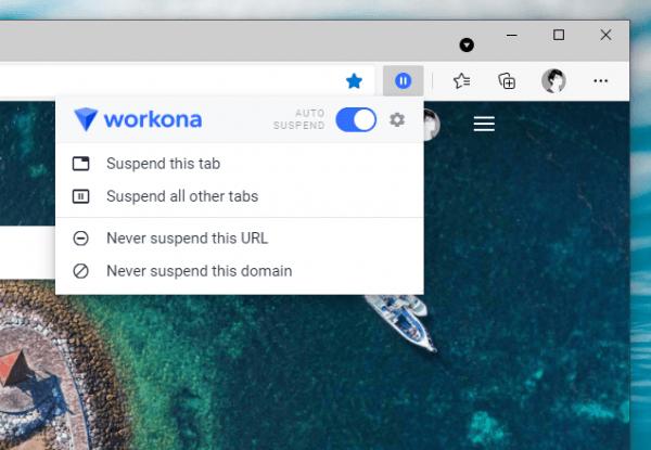 Workona Tab Suspender: Tiết kiệm bộ nhớ RAM khi dùng trình duyệt