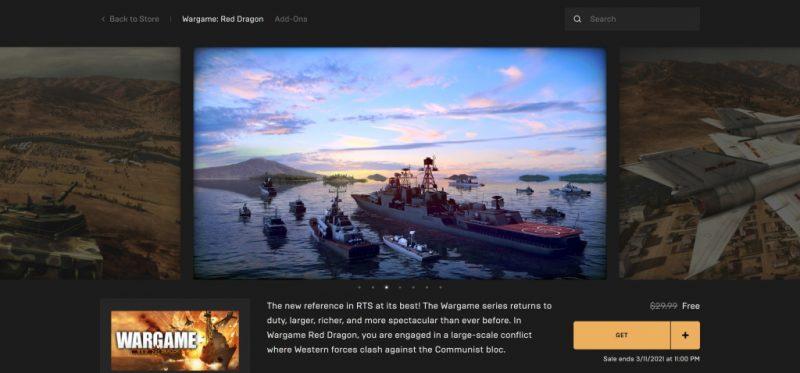 Đang miễn phí game Wargame: Red Dragon