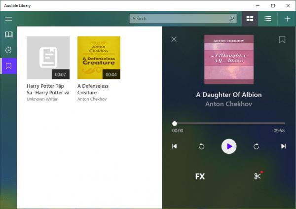 Audible Library: Ứng dụng chuyên dụng quản lý sách nói trên Windows 10