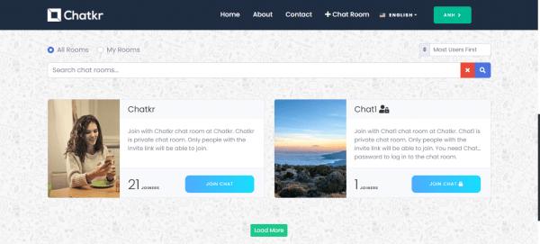 Chatkr: Dịch vụ trò chuyện miễn phí