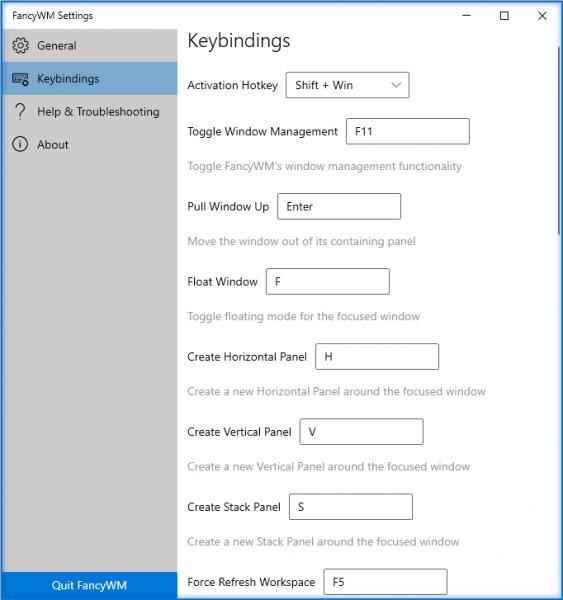 FancyWM: Tự điều chỉnh kích thước cửa sổ trên Windows 10
