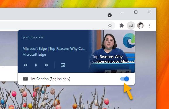 Cách bật, sử dụng Live Caption trên Chrome