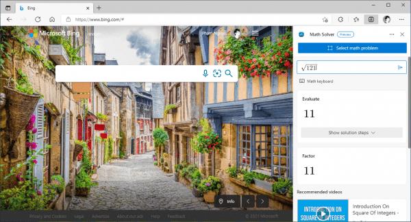 Giải Toán với Math Solver bằng trình duyệt Microsoft Edge