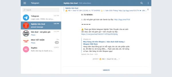 Dùng thử Telegram Web mới