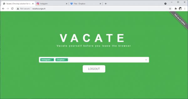 Vacate: Đăng xuất Google, Netflix,... và hàng loạt trang web khác trên trình duyệt