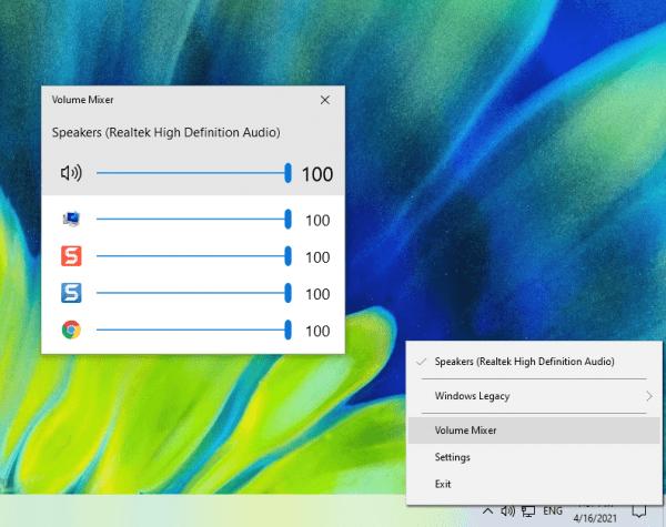 Cách dùng Volume Control thay thế Volume Mixer, còn hỗ trợ phím tắt nữa