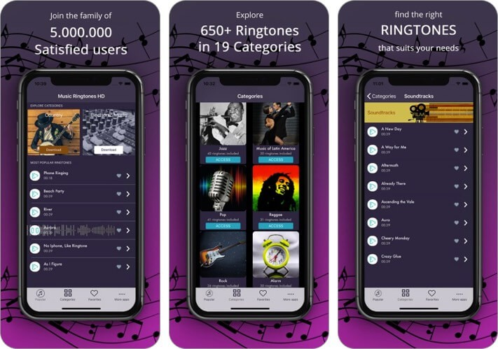 Ringtones: for iPhone
