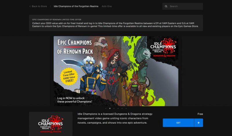 Đang miễn phí gói DLC game Idle Champions of the Forgotten Realms trị giá hơn 2 triệu đồng