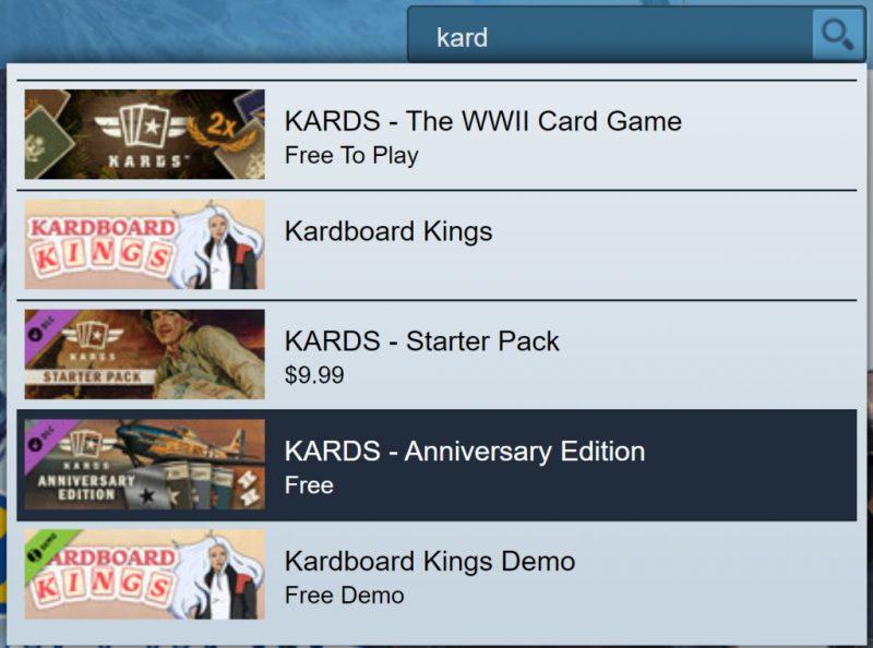 Đang miễn phí game KARDS - Anniversary Edition