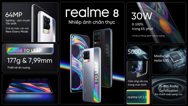 realme 8 series ra mắt với camera 108mp, giá từ 7 triệu đồng