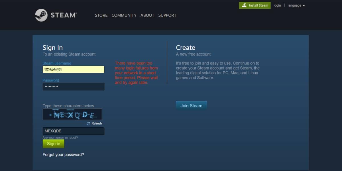 Khắc phục lỗi đăng nhập Steam