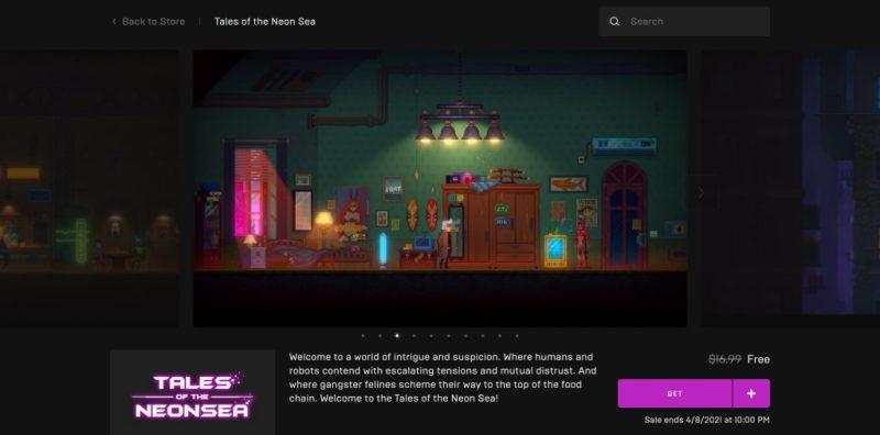 Đang miễn phí game Tales of the Neon Sea