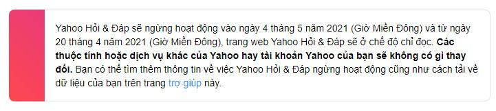 Yahoo Hỏi & Đáp sắp ngừng hoạt động