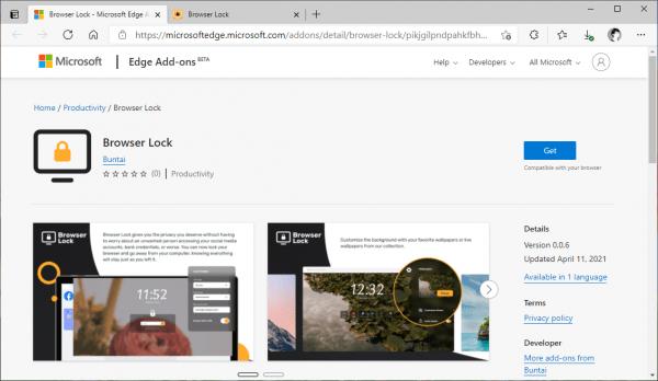 Browser Lock: Tiện ích khóa Microsoft Edge xịn hơn, đẹp hơn