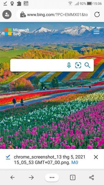 Cách chụp ảnh màn hình trang web trên di động với Microsoft Edge