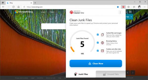 Dùng thử tiện ích dọn dẹp rác Chrome của Trend Micro