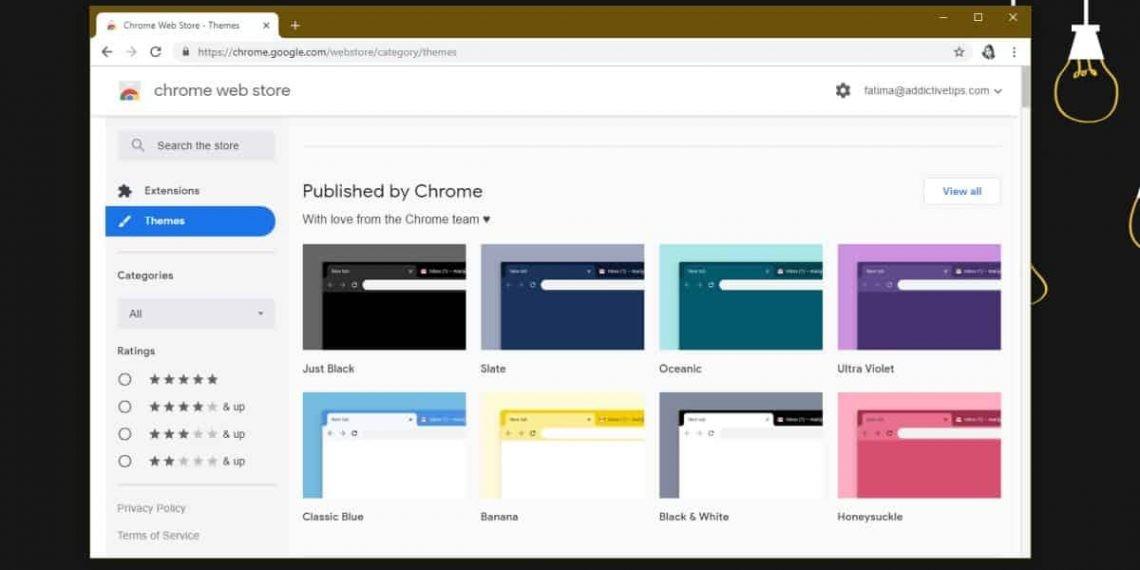 Cách cài đặt và gỡ cài đặt theme trên Chrome