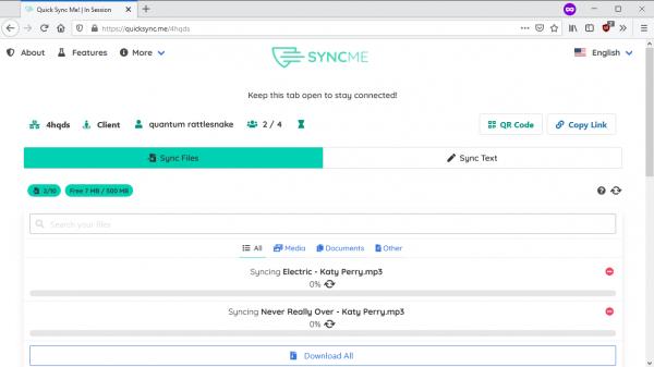 T6 Quick Sync Me: Chia sẻ file, văn bản mạng ngang hàng miễn phí