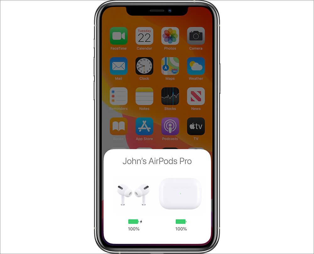 Đặt AirPods Pro vào hộp sạc và sau đó lấy chúng ra
