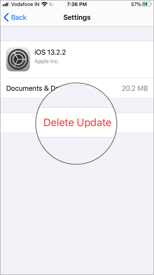 Cách xóa bản cập nhật phần mềm trên iPhone