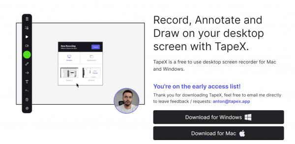 TapeX: Ứng dụng tuyệt vời để quay video màn hình trên Windows, Mac