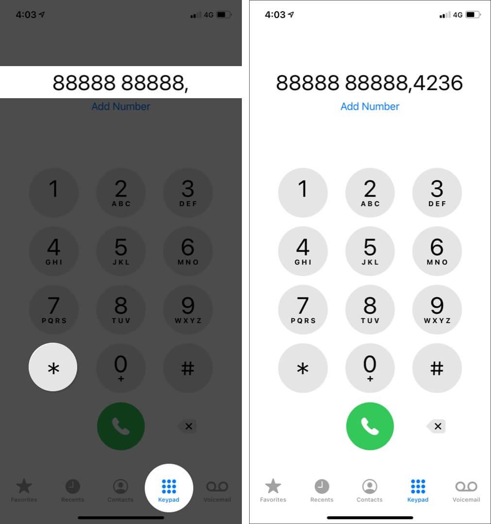 Cách gọi số nội bộ trên iPhone