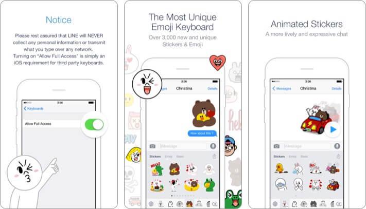 https://apps.apple.com/us/app/emoji-keyboard-by-line/id990903485