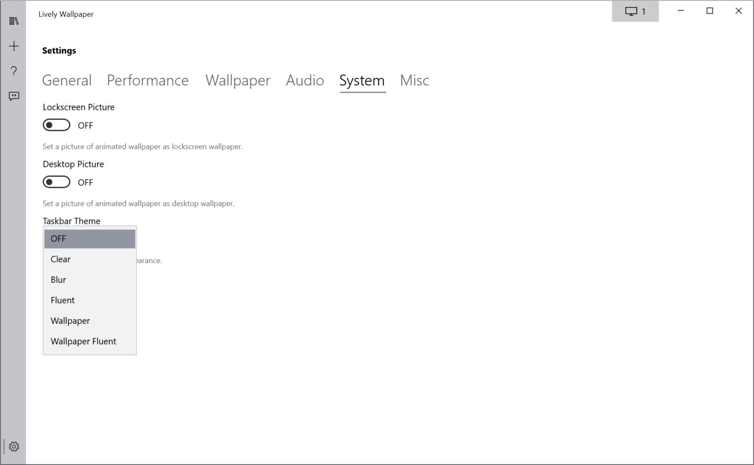 Lively Wallpaper: trang điểm ảnh nền và thanh tác vụ