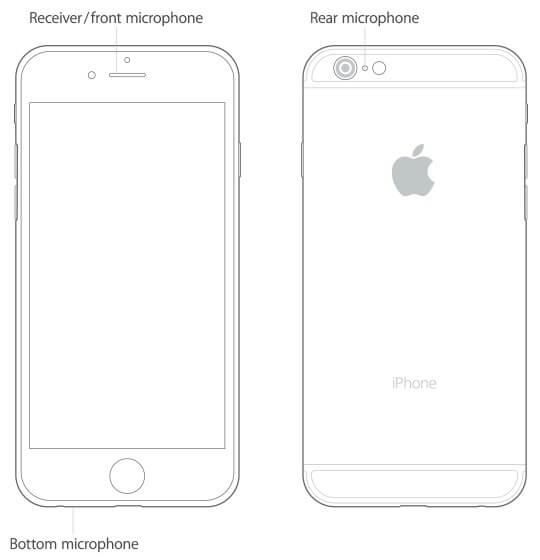 Vị trí các micro trên iPhone