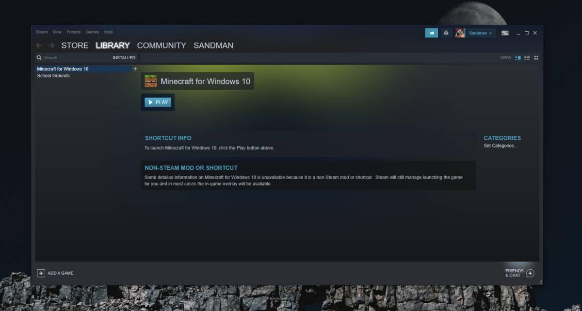 Cách thêm trò chơi Microsoft Store vào Steam trên Windows 10