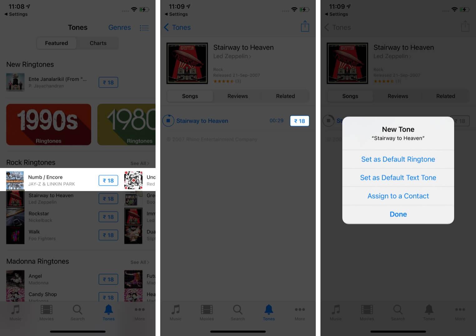 Cách mua nhạc chuông iPhone từ iTunes Store