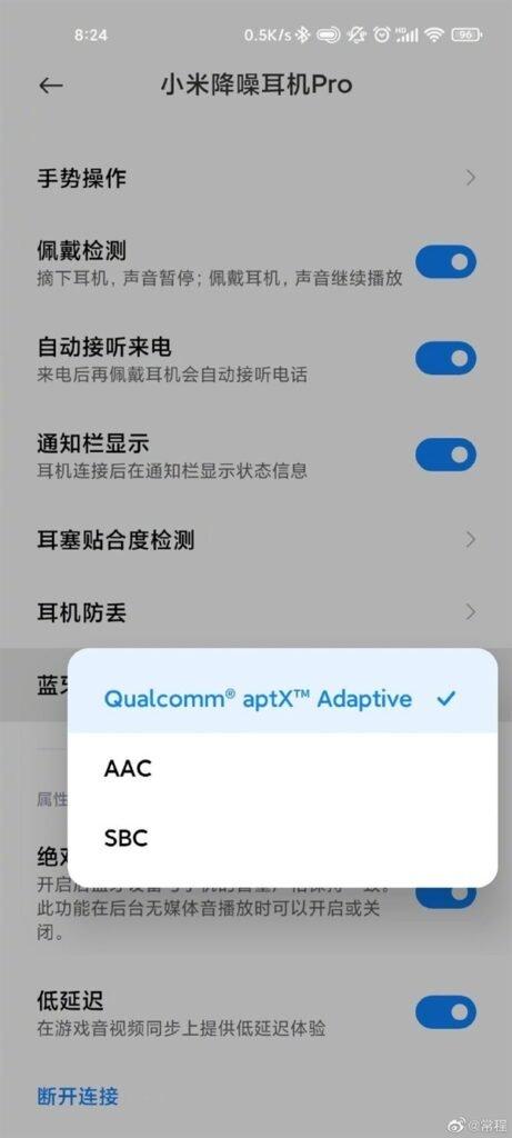 Xiaomi FlipBuds Pro cũng sẽ có chứng nhận Bluetooth aptX của Qualcomm