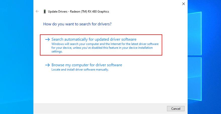 Sửa lỗi IRQL NOT LESS OR EQUAL trên Windows 10